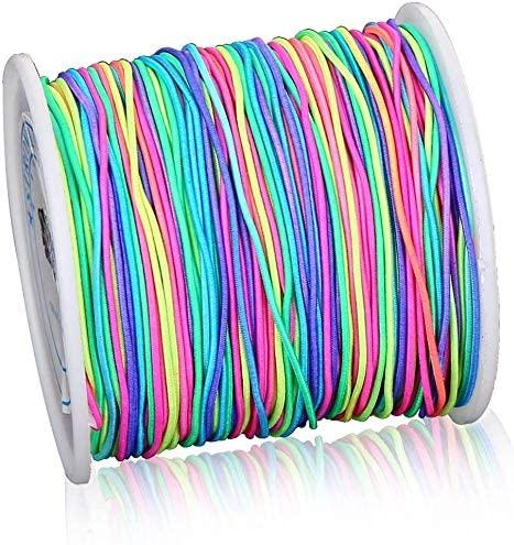 1mm Rainbow Elastic Cord Beading Thread