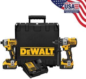 DEWALT 20V MAX XR Cordless Drill Combo Kit, 2-Tool