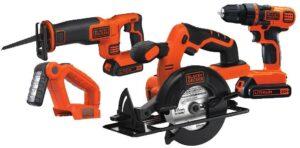 BLACK+DECKER 20V MAX Cordless Drill Combo Kit, 4-Tool
