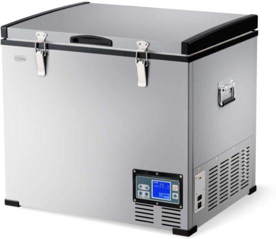 COSTWAY Chest Freezer, 63-Quart Compressor Travel Car Freezer