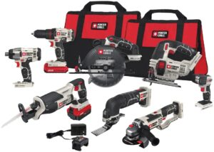 PORTER-CABLE 20V MAX Cordless Drill Combo Kit, 8-Tool