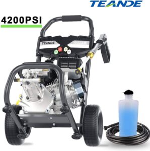 TEANDE 4200PSI Gas Pressure Washer 2.8GPM Power Washer 212CC