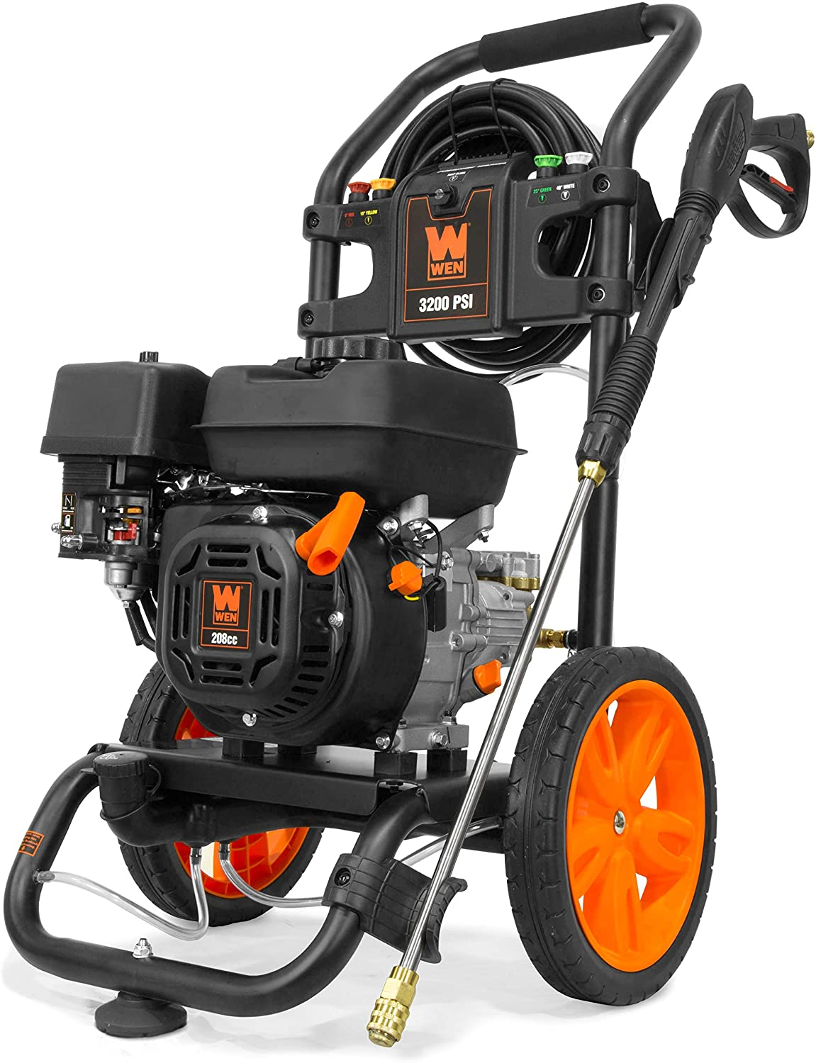 WEN PW3200 Gas-Powered 3200 PSI 208cc Pressure Washer, CARB Compliant