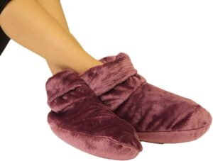 Mars Wellness Heated Microwaveable Foot Booties - Herbal Hot/Cold Deep Penetrating Herbal Aromatherapy Wrap Warmer (Mauve)