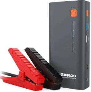 GOOLOO 1200A Peak 18000mAh SuperSafe Car Jump Starter with USB Quick Charge (Up to 7.0L Gas or 5.5L Diesel Engine), 12V Portable Power Pack Auto Battery.