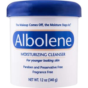 Albolene Moisturizing Cleanser | 3-in-1 Skin Care Product: Makeup Remover, Facial Cleanser and Moisturizer