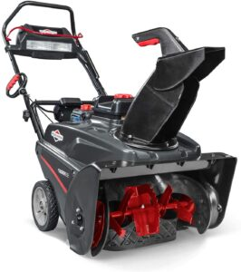 Briggs & Stratton 1222EE 22-Inch Single Stage Snow Blower with 250CC Engine, Electric Start, and SnowShredder auger