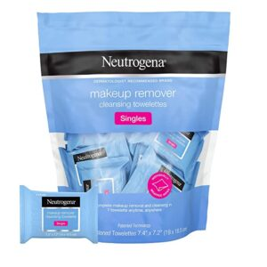 Neutrogena Makeup Remover Facial Cleansing Towelette Singles, Daily Face Wipes