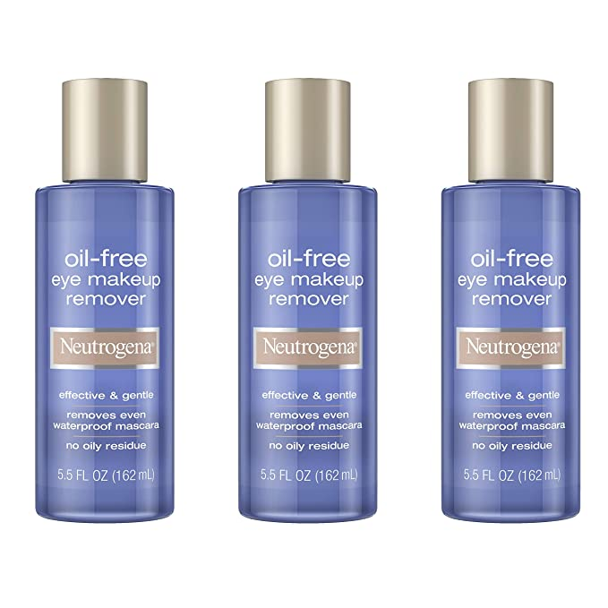 Neutrogena Gentle Oil-Free Eye Makeup Remover & Cleanser for Sensitive Eyes, Non-Greasy Makeup Remover, Removes Waterproof Mascara