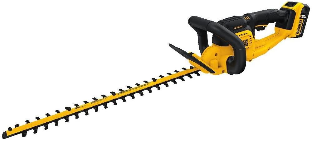 DEWALT 20V MAX Cordless Hedge Trimmer, 5.0 Ah, 22-Inch (DCHT820P1)