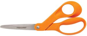 Fiskars 197060-1001 Petite Original Orange-Handled Scissors, 7 Inch, Orange