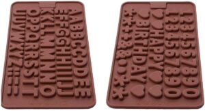 Silicone Letter Mold and Number Chocolate Molds with Happy Birthday