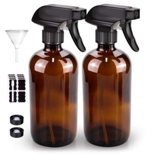 Bontip Amber Glass Spray Bottle Set