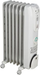 De'Longhi Oil-Filled Radiator Space Heater, Quiet 1500W, Adjustable Thermostat