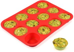 12 Cups Silicone Muffin Pan - Nonstick
