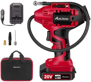 Avid Power Tire Inflator Air Compressor, 20V Cordless Car Tire Pump with Rechargeable Li-ion Battery,