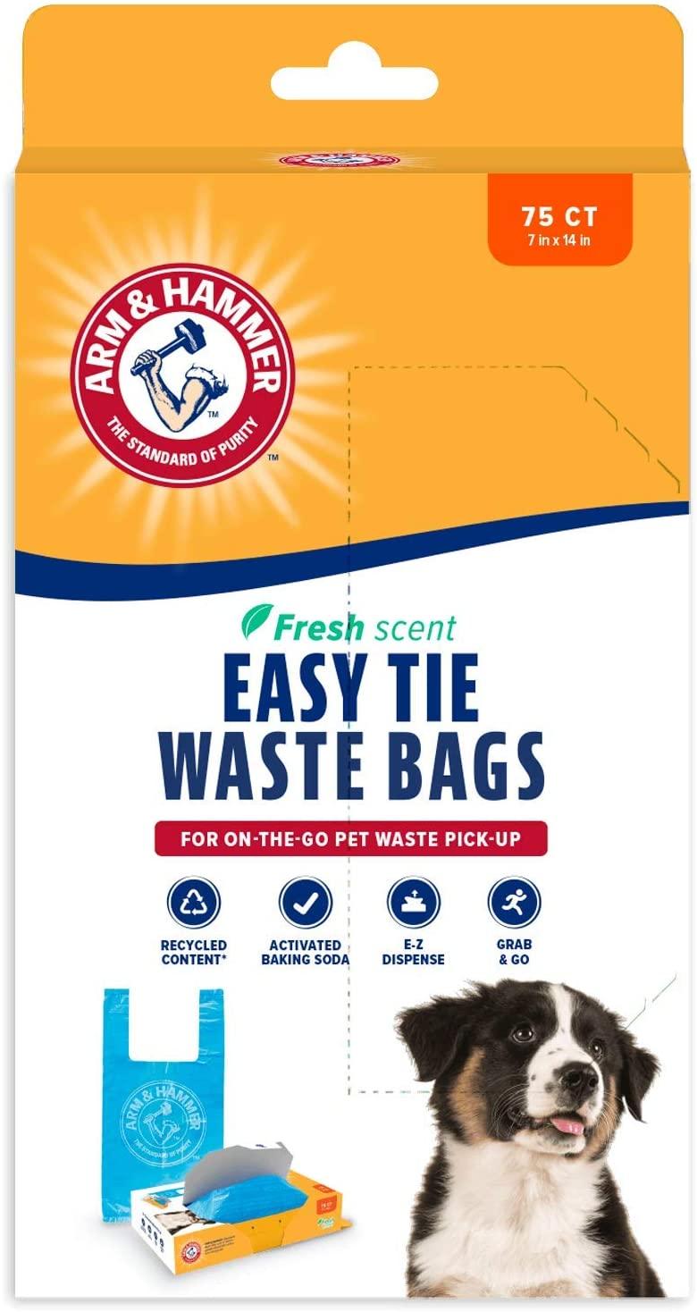 Arm & Hammer 71041 Easy-Tie Waste Bags, Blue