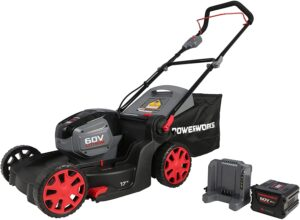 "Powerworks 60V 17"" Brushless Lawn Mower, 4Ah Battery and Charger Included MO60L414PW"