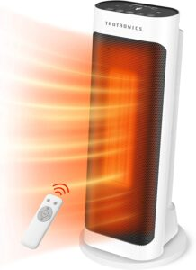 Taotronics Space Heater 1500W Electric Small Portable with Remote Control for Indoor Use