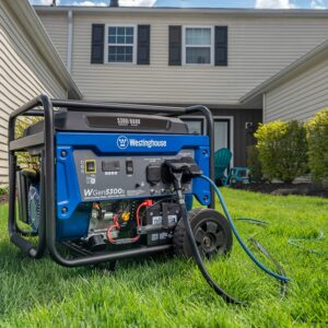 Westinghouse WGen5300s Storm Portable Generator with Electric Start and 120/240 Volt Selector 5300 Rated 6600 Peak Watts Gas Powered